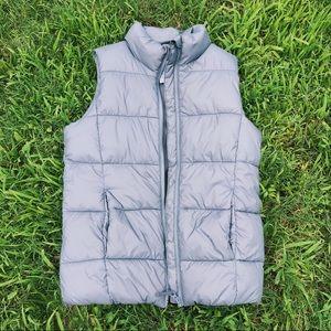 Gray Old Navy Puffer Vest